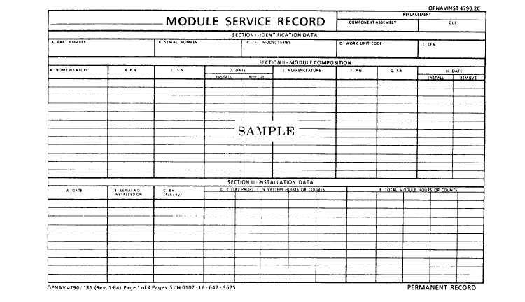 inventory record opnav 4790 27a 12324 264