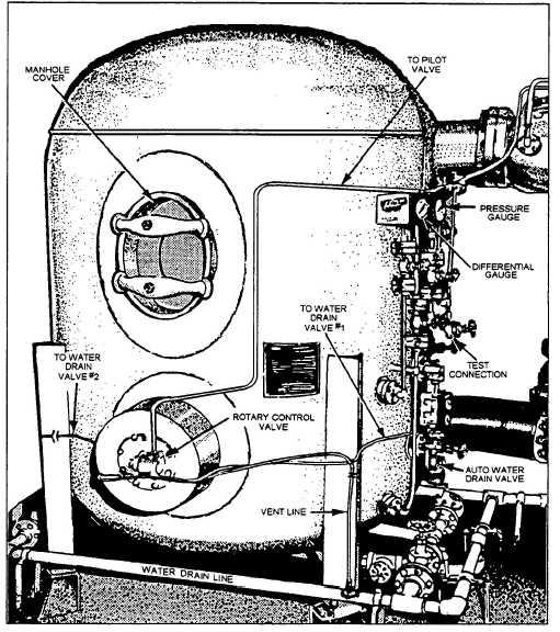 service fuel filter  vertical