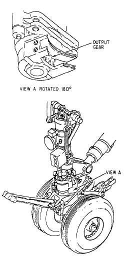 nosewheel steering system components