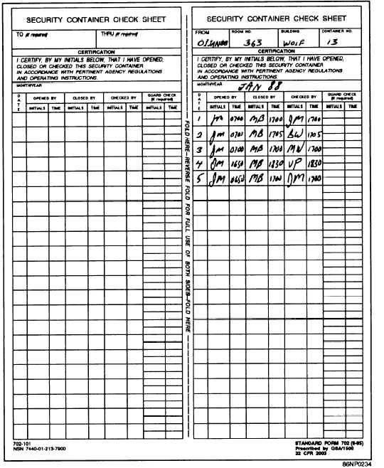 Image Gallery Dd Form 702